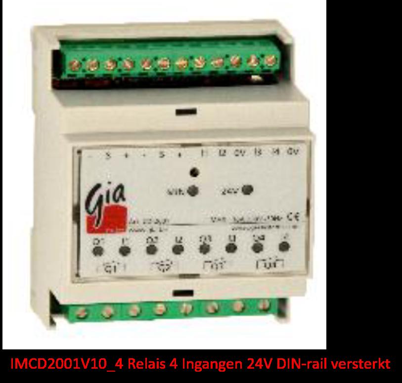 IMCD2001V10_4 Relais 4 Ingangen 24V DIN-rail versterkt
