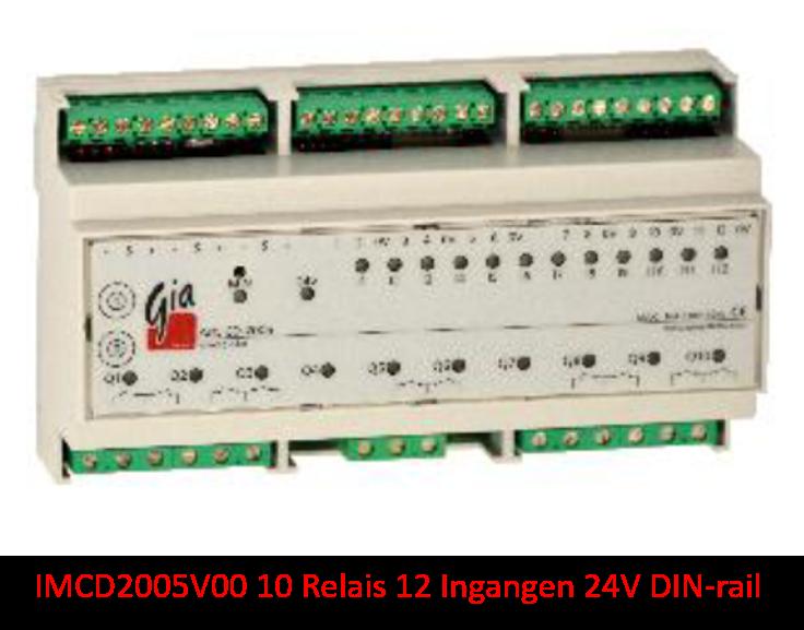 IMCD2005V00 10 Relais 12 Ingangen 24V DIN-rail
