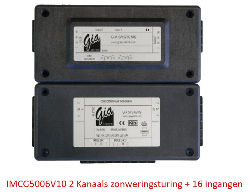 IMCG5006V10 2 Kanaals zonweringsturing met 16 ingangen