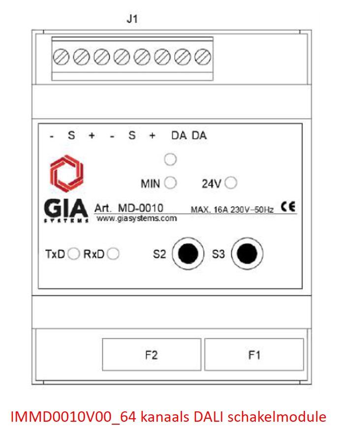 IMMD0010V00_64 kanaals DALI schakelmodule