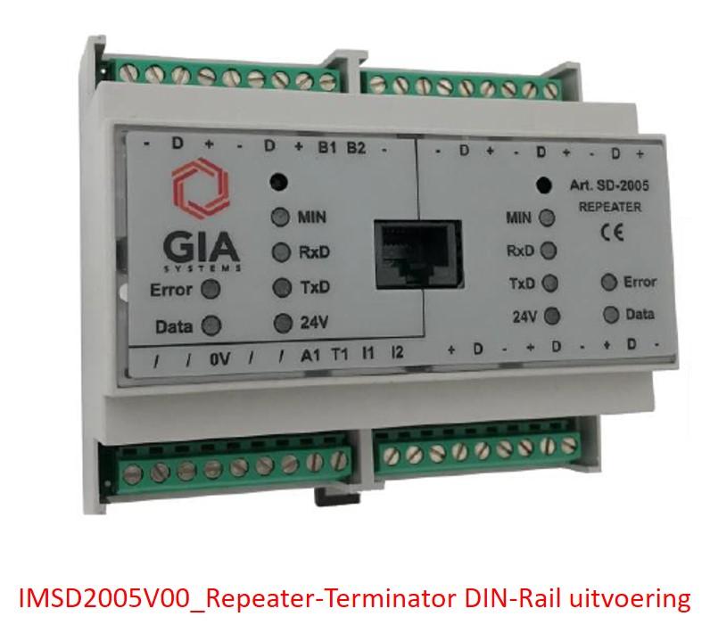 IMSD2005V00 Repeater-Terminator DIN-Rail uitvoering